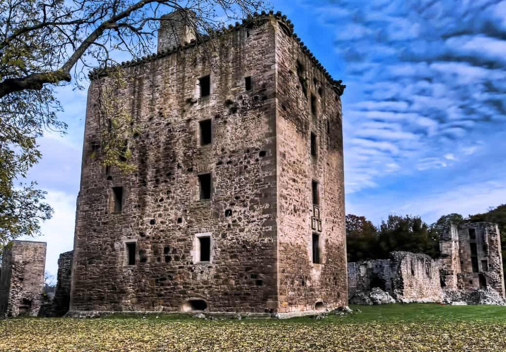 One of Scotland's most haunted castles, Spynie Palace.