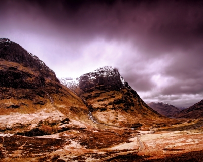 Glencoe makes for a dramatic setting. Dark, Scottish history took place here.