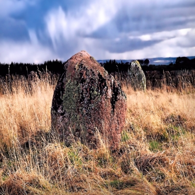 The ancient diel stone stone circle near Urquhart Scotland.