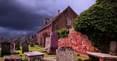 Auldearn Kirk where Isobel Gowdie met the Devil.