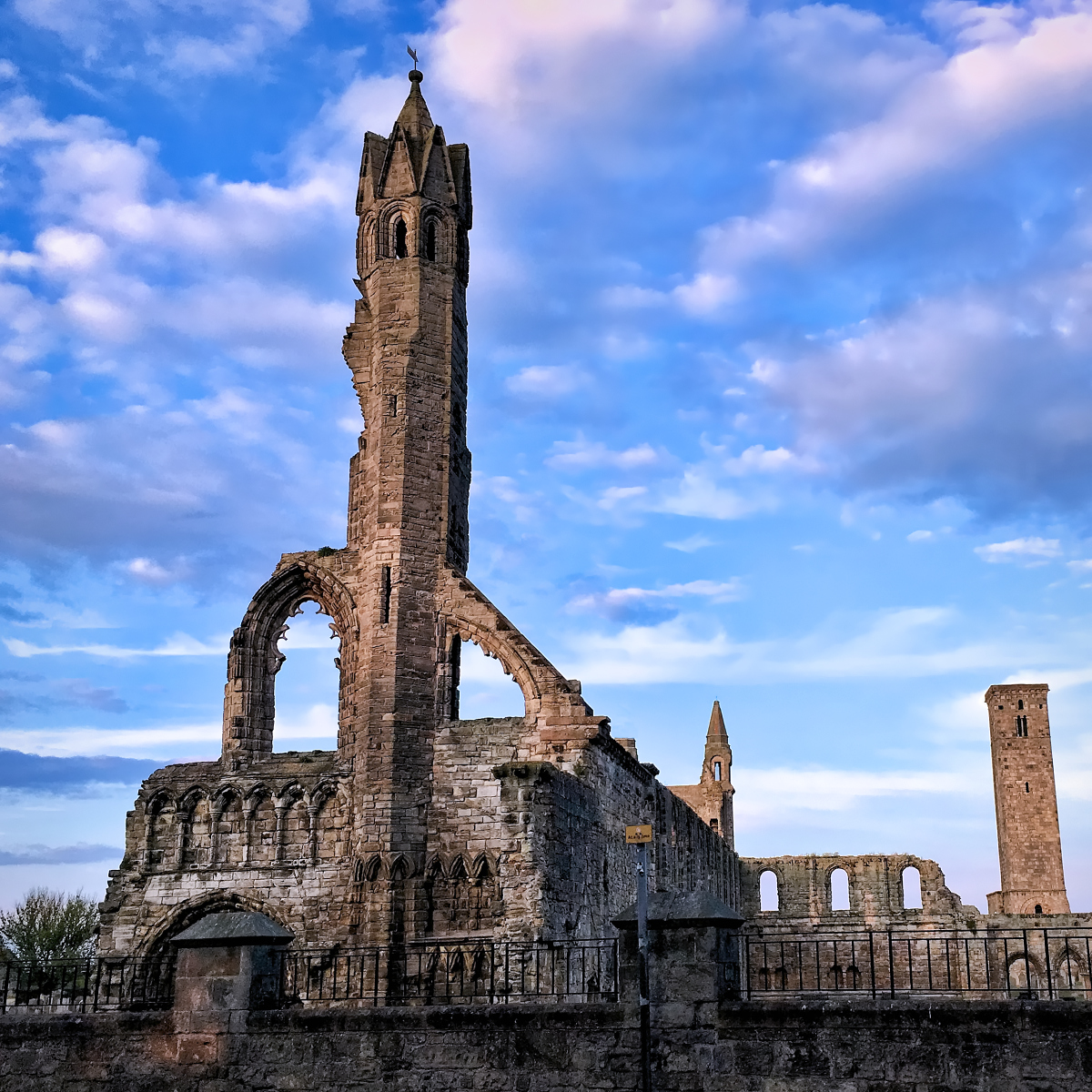 The impressive ruin of St Andrews Cathedral in Scotland