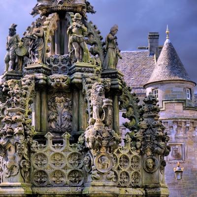 Holyrood Palace in Edinburgh, where David Rizzio was murdered.