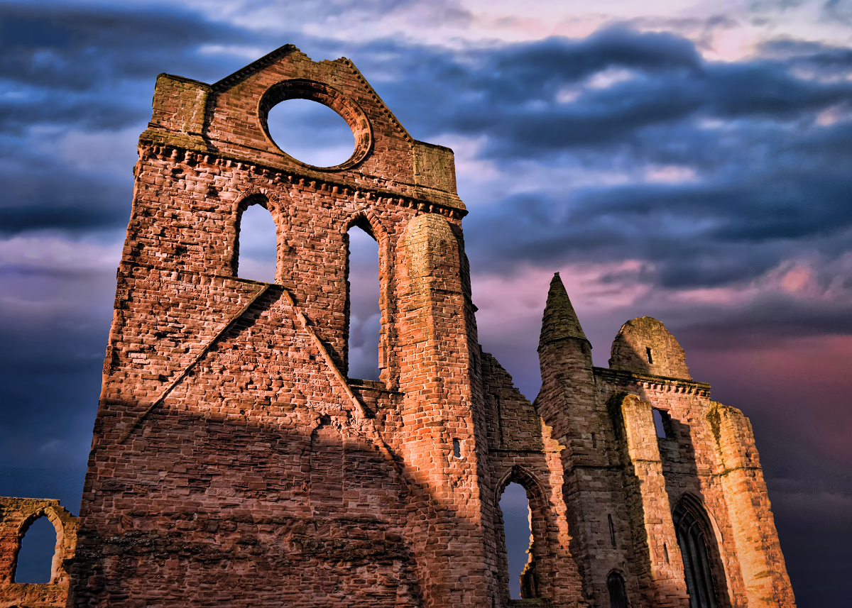 Arbroath Abbey where the stone of destiny mysteriously appeared after missing for several months.