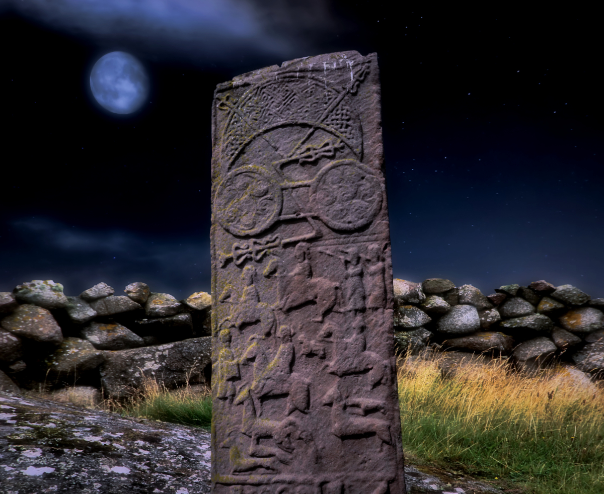 Battle of Dún Nechtain, Pictish Stone