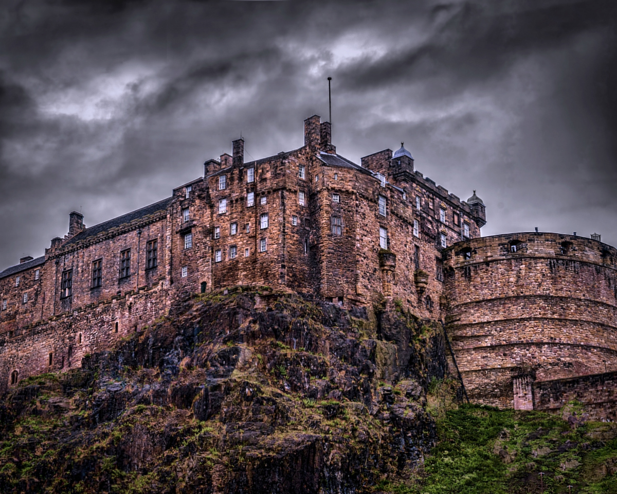 Castle Rock in Edinburgh may have once been the sight of Castle of the Maidens
