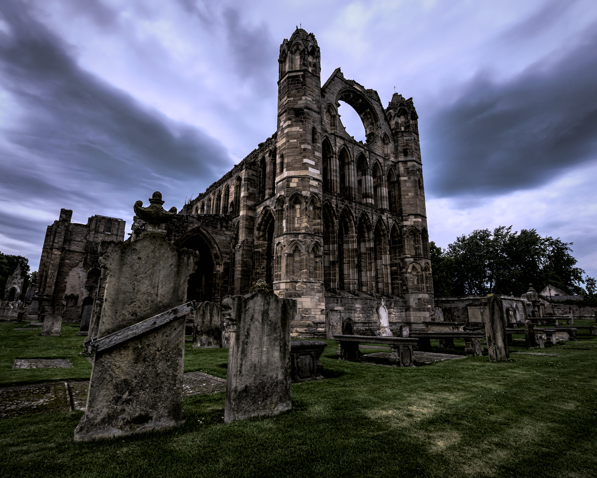 Elgin Cathedral, which was destroyed by the Wolf of Badenoch.