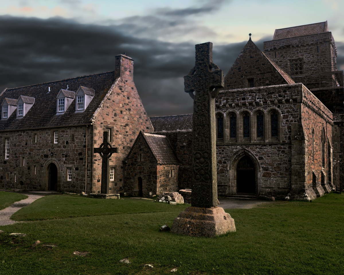 Iona Abbey where Saint Columba was originally buried.