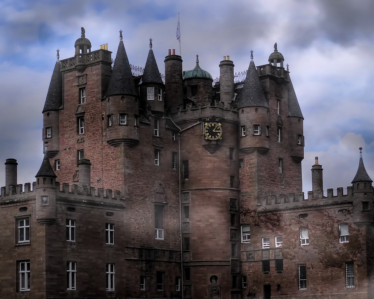 The Ghost of Janet Douglas is said to haunt Glamis Castle.
