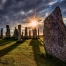 Callanish Standing Stones at Mabon. The Wheel of the Year, autumn equinox.