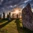 Callanish Standing Stones at Mabon. The Wheel of the Year, autumn equinox.