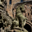 Unicorn statue at Linlithgow Palace.